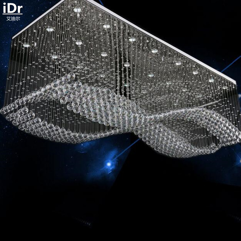 Image 3 - Modern Creative high grade low voltage engineering lamp crystal lamp LED Crystal Light rectangular Ceiling Lights L1200xW700mm-in Ceiling Lights from Lights & Lighting