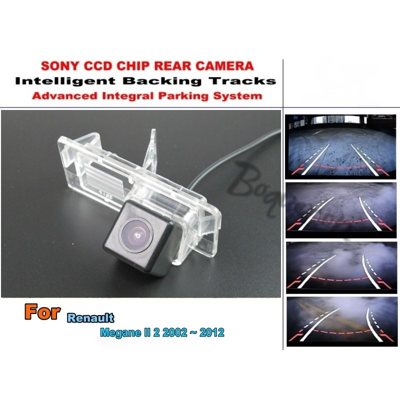 For Renault Megane II Megane 2 2002 ~ 2012 Car Intelligent Parking Tracks Camera / HD Back up Reverse Camera / Rear View Camera car window regulator repair kit for renault megane ii 2 front right 2002 2009 new
