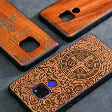 2019 New Huawei Mate 20 Pro Case Slim Wood Back Cover TPU Bumper Case For Huawei Mate 20X Phone Cases Mate20