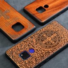 Huawei funda Mate 20 Pro, carcasa trasera delgada de madera, TPU, para Huawei Mate 20X, Mate20, novedad de 2019