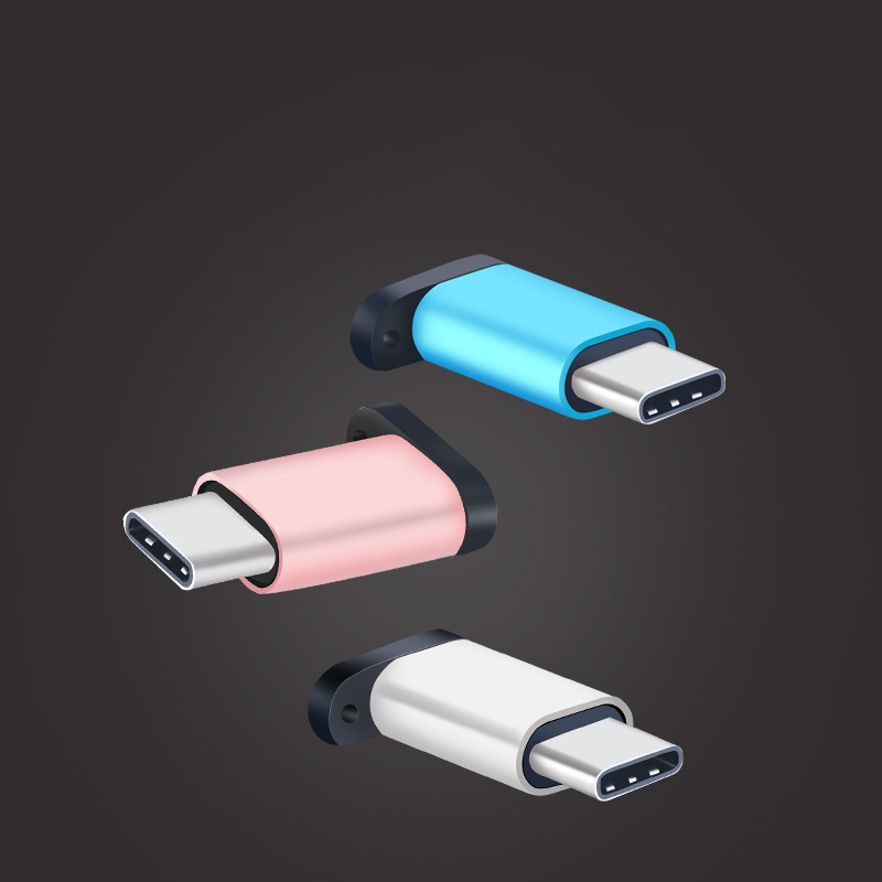 Thbelieve Micro USB To USB C Adapter Type C Micro USB Phone Adaptos With Keychain USBC Adaptors For Huawei Tipe C Drop Shipping