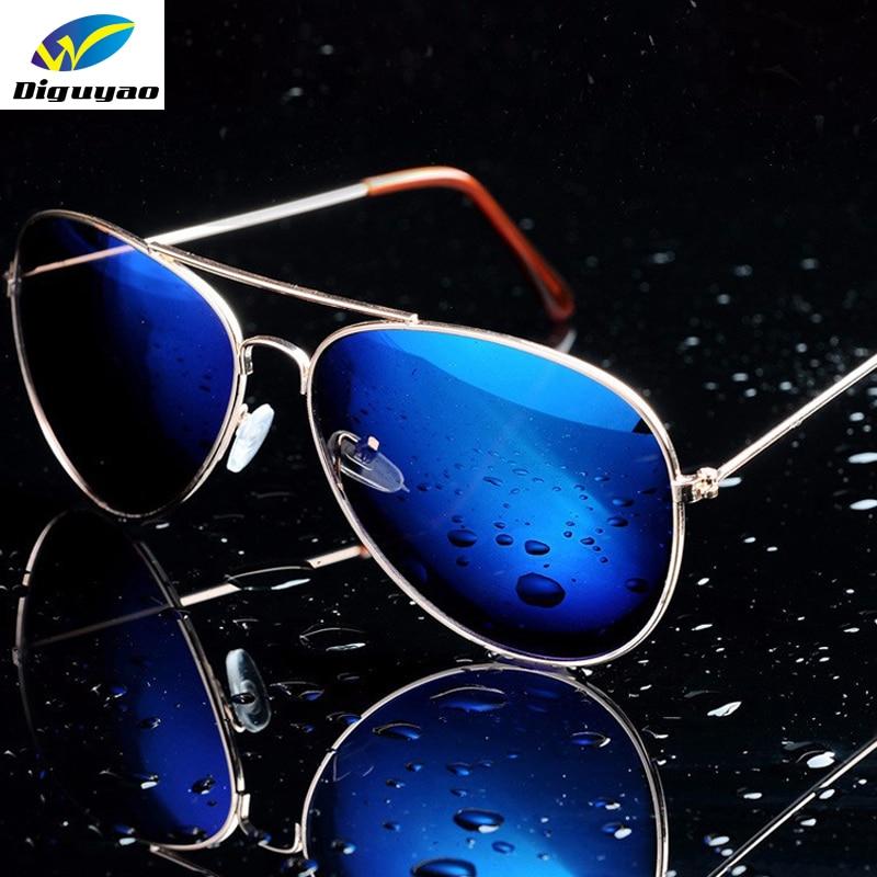 DIGUYAO oculos دي سول feminino النساء نظارات شمس معدن الطيار ماركة نظارات شمسية مضادة للانعكاس الرجال الأزياء مكبرة