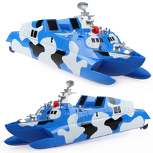 2017 New rc boat HT-3832 2.4G 1:275 Doubel -base Stealth Speedboat wireless missile boat Racing rc boat remote control toy gifts