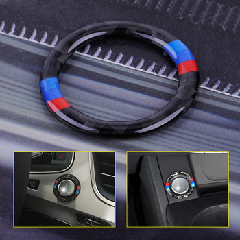 beler Car Engine Start Stop Button Circle Ring Trim Circle Ignition Key Ring Carbon Fiber Fit for BMW 3 series E90 E92 E93 2006 circle