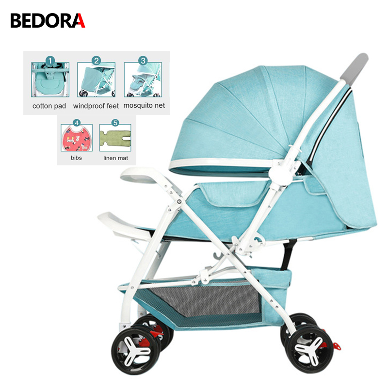 Bedora Free Shipping Baby Stroller Lightweight folding Baby trolley 5 Free Gifts kids Fo ...