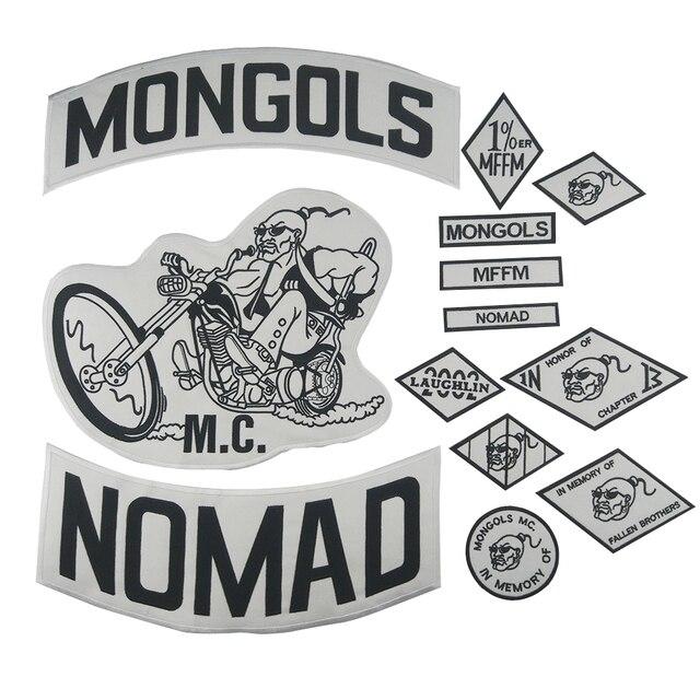 Mongals патч Nomad MC куртка набор патчей Байкер большая задняя мотоциклетная куртка одежда всадник значки нация MFFM аппликации стикер