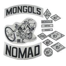Mongols Patch Nomad MC Jacket Patch Set Biker Large Back Motorcycle Jacket Clothing Rider badges Nation MFFM Appliques Sticker недорого