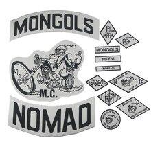 Ensemble de veste de motard Mongols, Patch Nomad MC, grand dos, veste de moto, vêtements, badges de cavalier, application, autocollant MFFM