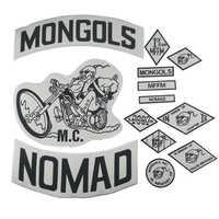 Mongols Patch Nomad MC veste Patch ensemble motard grand dos moto veste vêtements cavalier badges Nation MFFM Appliques autocollant