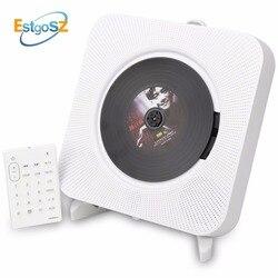 KECAG EStgoSZ مشغل أقراص مضغوطة على الحائط بلوتوث المحمولة الرئيسية صندوق الصوت مع جهاز التحكم عن بعد راديو FM المدمج في HiFi مكبرات الصوت MP3