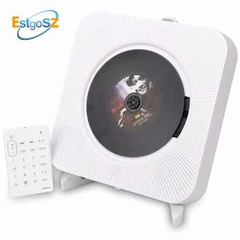 KECAG EStgoSZ CD Player Wall Mountable Bluetooth Portable Home Audio Box with Remote Control FM Radio Built-in HiFi Speakers MP3 - DISCOUNT ITEM  23% OFF All Category