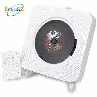 KECAG EStgoSZ CD Player Wall Mountable Bluetooth Portable Home Audio Box with Remote Control FM Radio Built in HiFi Speakers MP3
