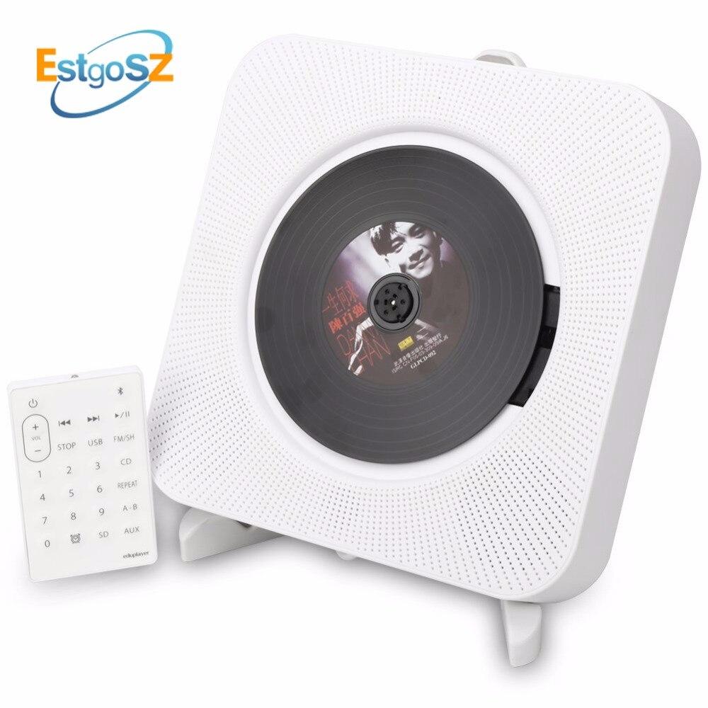 KECAG EStgoSZ CD Player Montável Em Parede Caixa De Áudio Bluetooth Portátil Para Casa com Controle Remoto de Rádio FM Embutido de Alta Fidelidade Alto-falantes MP3
