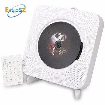 Kecag estgosz leitor de cd parede montável bluetooth portátil caixa de áudio em casa com controle remoto rádio fm built-in alto falantes de alta fidelidade mp3