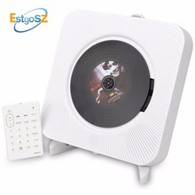 QPLOVE EStgoSZ CD Player Wall Mountable Bluetooth Portable Home Audio Box with Remote Control FM Radio Built in HiFi Speaker MP3