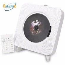 QPLOVE EStgoSZ CD çalar duvar monte Bluetooth taşınabilir ev ses kutusu uzaktan kumanda ile FM radyo dahili HiFi hoparlör MP3