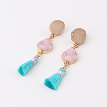 Oval Tassels Earings