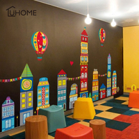 Diy Big Castle Home Decor Wall Stickers for Kids Rooms Children's Bedroom Sticker Mural Art Kindergarten Decoration Child Gift