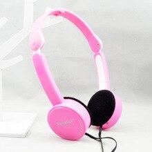 Çocuk Katlanabilir Kablolu Kulaklıklar Çakmak Kulaklık Taşınabilir 3.5mm Kulaklık Tel Kontrolü Ile Mikrofon MP3 MP4 Bilgisayar