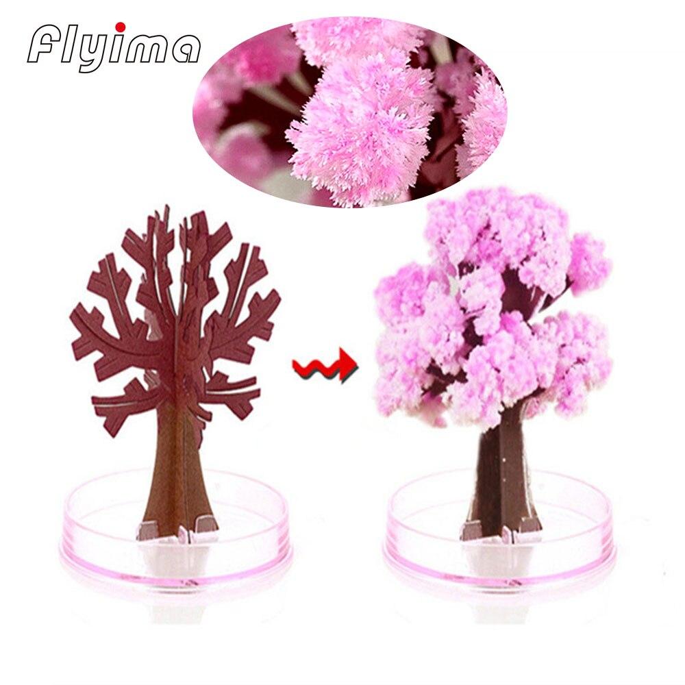 Magische wachsende papier sakura anti stress Künstliche Bäume Dekorative Wachsenden DIY Papier Baum Geschenk Neuheit Visuellen Magie kinder spielzeug