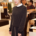 HIGH QUALITY New 2016 Winter Designer Sweater Women's Long Sleeve Rivet Beading Pullover Sweater