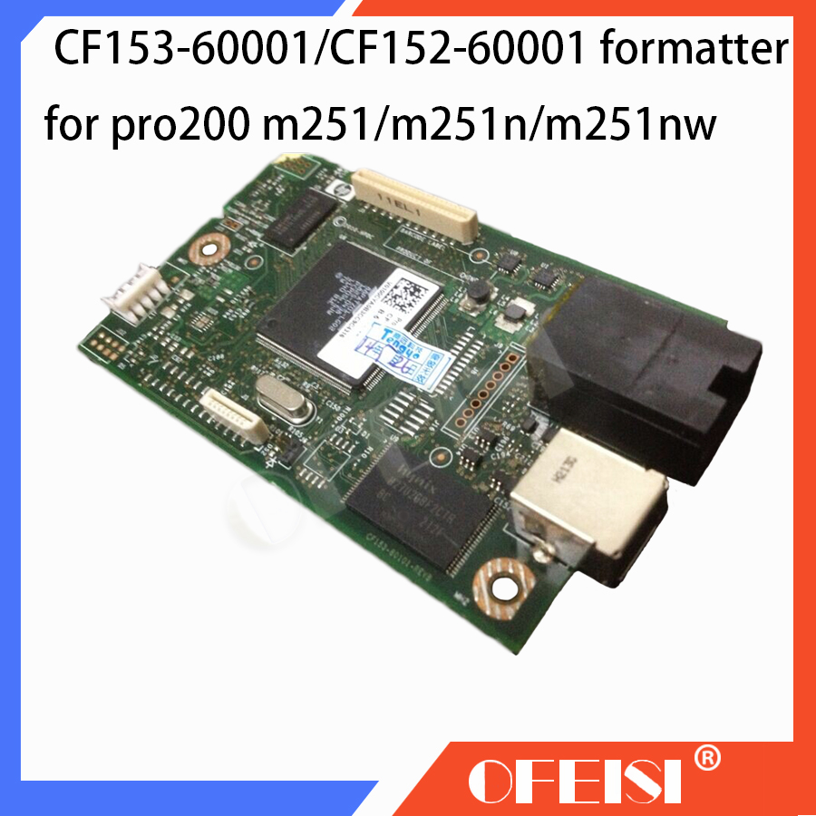 Original CF153-60001 CF152-60001 Formatter Board PCA ASSY logic Main Board MainBoard for <font><b>HP</b></font> CLJ pro200 M251 <font><b>M251N</b></font> 251NW Printer image