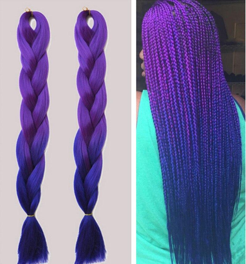 fashion ombre braiding hair two