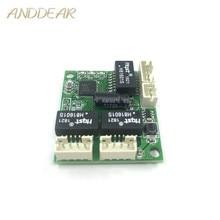 Séparateur de câblage à trois ports 10/100 Mbps type 86 mini module de commutation de réseau à faible puissance dingénierie de tension large