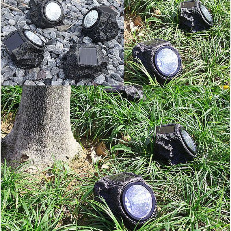 Waterproof LED Solar Panel Lamps Led Solar Lights Outdoor Simulated Stone  Shape Home Luminarias Garden Decoration Lighting In Solar Lamps From Lights  ...