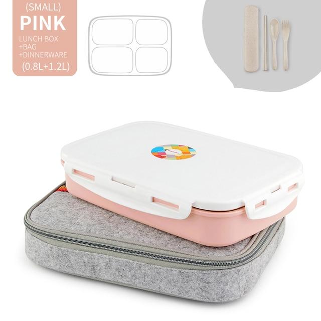 Pink 4 Compart Set Cheap bento boxes japanese bento 5c6479e2ed37e