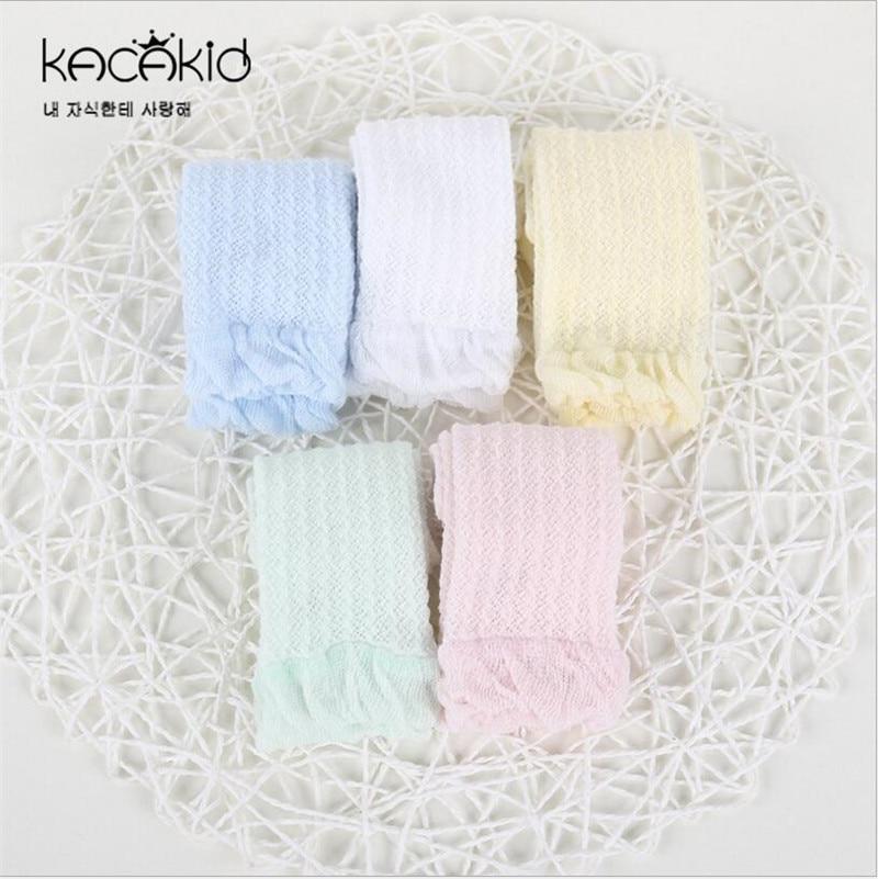 Breathable Newborn Baby Girl Socks Cotton Summer Infant Baby Knee High Mesh Socks For 0-3Years Kid Legwarmer