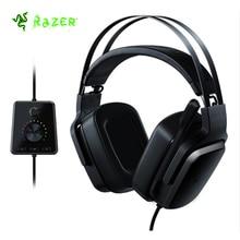 Оригинальный razer Tiamat 7,1 V2 аналоговый Digital Surround Sound Gaming Headset с микрофоном 50mm пользовательские настроены драйверы наушников