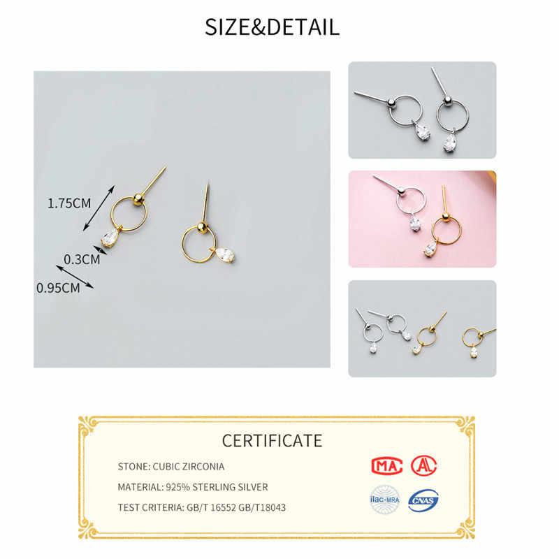 INZATT คริสตัล Zircon Dangle Drop ต่างหูสีทองสำหรับผู้หญิงงานแต่งงานเงิน 925 OL เครื่องประดับ Bijoux 2018 ของขวัญ