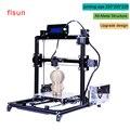 Алюминий Металла 3D Принтер Высокая Точность Большой размер печати Prusa i3 3d-принтер Комплект Горячая Кровать С Двумя Рулона Нити Sd карты