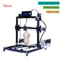 Aluminium Metal 3D Printer High Precision Large printing size Prusa i3 3d-Printer Kit Hot Bed With Two Roll Filament Sd Card