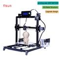 O Metal De alumínio 3D Impressora De Alta Precisão Grande tamanho de impressão Prusa i3 Kit Cama Quente Com Dois Rolos de Filamento 3d-Printer Sd cartão