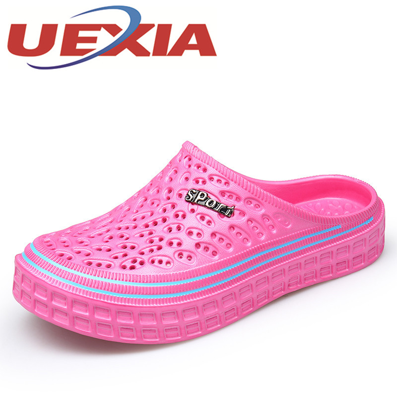 Summer Women Casual Jelly Shoes Beach Slippers Breathable Waterproof Clogs For Women Hollow Slippers Flip Flops Shoes Mule Clogs summer women casual jelly shoes beach slippers breathable waterproof clogs for women hollow slippers flip flops shoes mule clogs