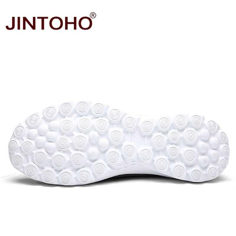JINTOHO Unisex Sommer Atmungsaktives Mesh Männer Schuhe Leichte Männer Wohnungen Mode Lässig Männlichen Schuhe Marke Designer Männer Müßiggänger