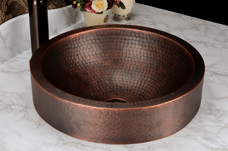 Beautiful Free Shipping Fashion Wash Basin, Antique Cooper Brass Basin, Handmade Copper  Sink,Copper Vessel Sink,Brass Under Counter Basin, In Bathroom Sinks From  Home ...