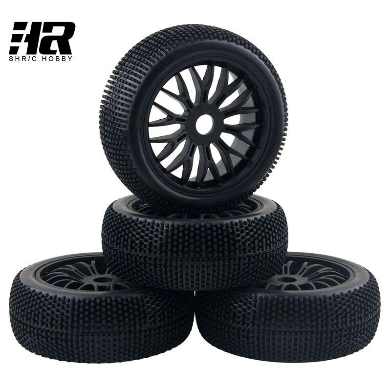 RC car 1/8 wheel 17mm Hex Hub  Off-Road Car Tires Set Tyres & Wheel Rim Fit HSP HPI 1:8 RC Car Buggy Toys Parts & Accessories 4pcs 12mm hub hpi redcat hsp metal wheel rim