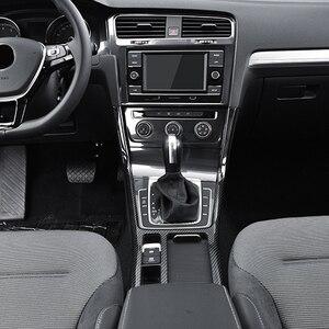 Image 5 - For golf 7 carbon fiber car stickers Golf MK7 interior modification water cup box control gear block decorative frame bright