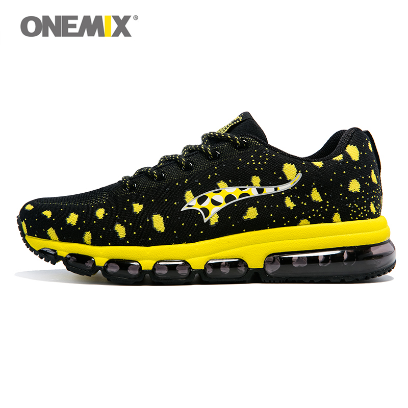 ONEMIX 2017 New Men Running Shoes Air Cushion Trainers Exercise Sneakers Flywire Women's Sport Shoe Man Runner Light Knitting brand running shoes for men women unisex sport trainers breath athletic sneakers runner 9 colors plus max big size 12 onemix