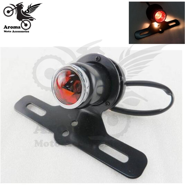 top quality retro universal accessories scooter motorbike rear brake light with bracket for Harley Davidson LED moto tail light