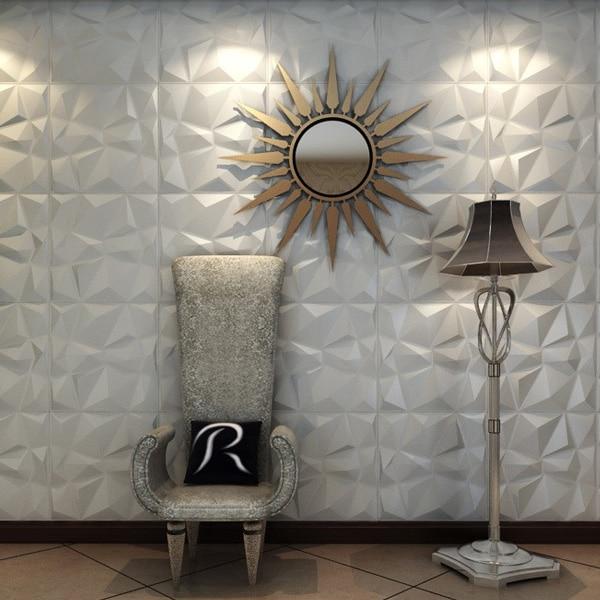 Los paneles de pared texturizados 3D del diamante 12 PC cubren 3m2 3D - Decoración del hogar - foto 6