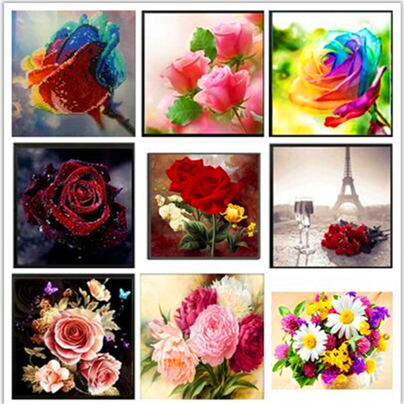 30X30CM Diy Diamond  paintings 5D Embroidery Rose Cross Stitch Mosaic Square Rhinestone. LUOVIZEM L106