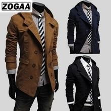 Mens Trench Coat New Fashion Design Men Windbreaker Autumn Winter Double-breasted Windproof Slim Plus Size
