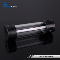 BYKSKI Silver 150MM X 50MM Diameter Cylindrical Water Cooled Tank Acrylic Water Coolant Tank Cooling B