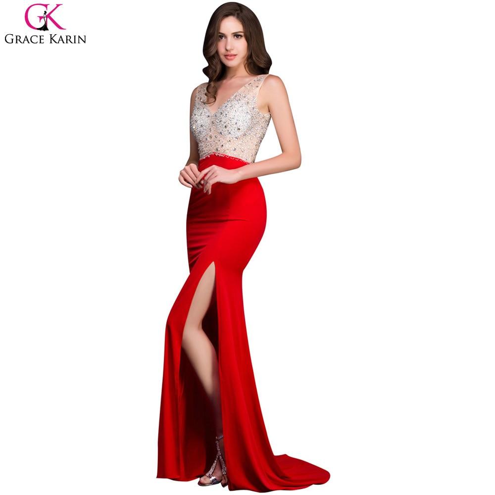 Aliexpress.com : Buy Grace Karin Long Mermaid Prom Dresses Beaded ...