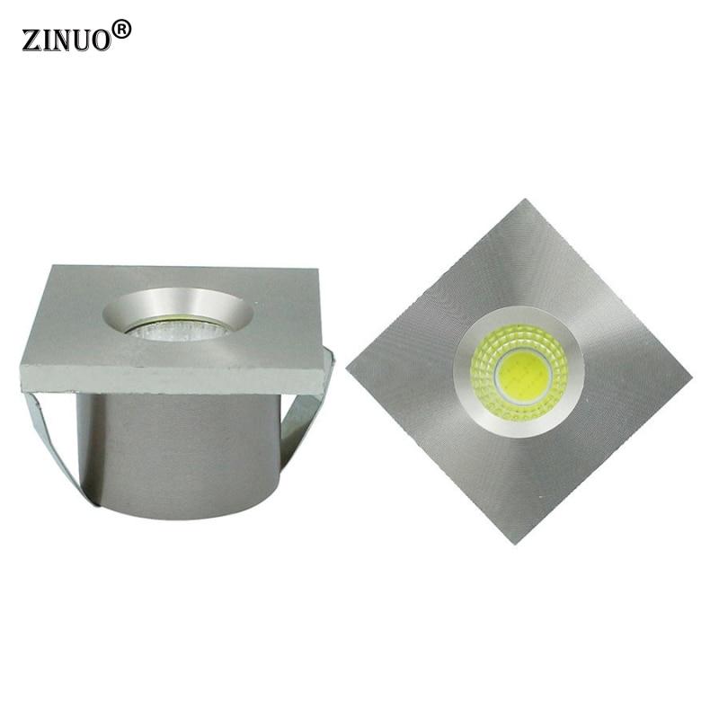 ZINUO 10pcs Lot Mini COB 3W Led Downlight Led Recessed Cabinet Spot light Jewelry exhibition Display