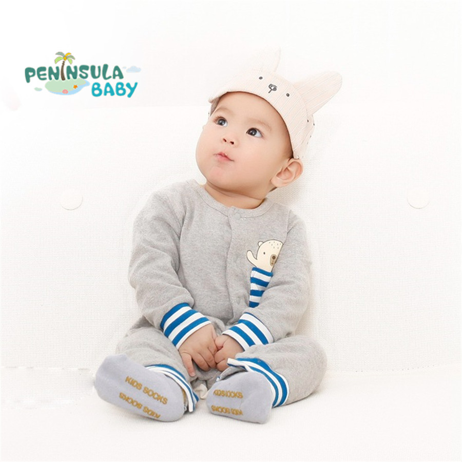 New 2017 Spring Autumn Baby Rompers Infant Cartoon Clothes Long Sleeved Coveralls For Newborn Boy Girl Soft Cotton Baby Clothing 0 12m autumn cotton baby rompers cute cartoon clothing set for baby boys infant girls clothes jumpsuits foot coveralls romper